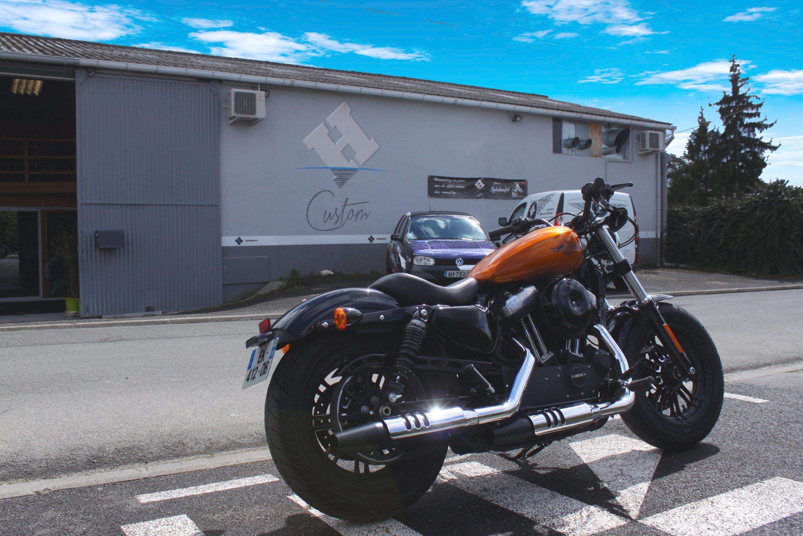 Harley brossée doré